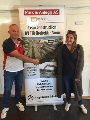 Bacheloroppgave HIØ: Effektiv flyt / Lean construction på prosjekt RV110 Ørebekk-Simo