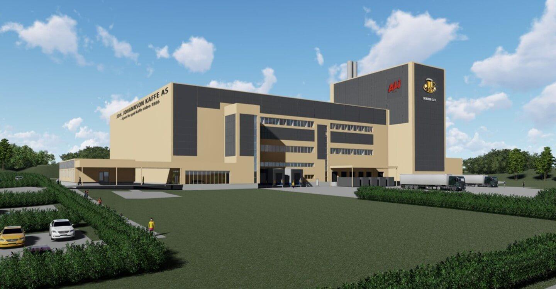 Park & Anlegg AS har Grunn- og utomhusarbeidene på Kaffefabrikken Vestby.